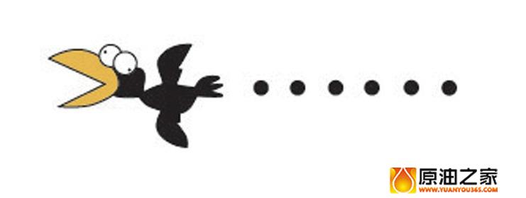 乌鸦飞过矢量图