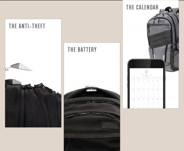 A.B.C.智能背包众筹 内建电池蓝牙锁和智能日历的照片 - 2