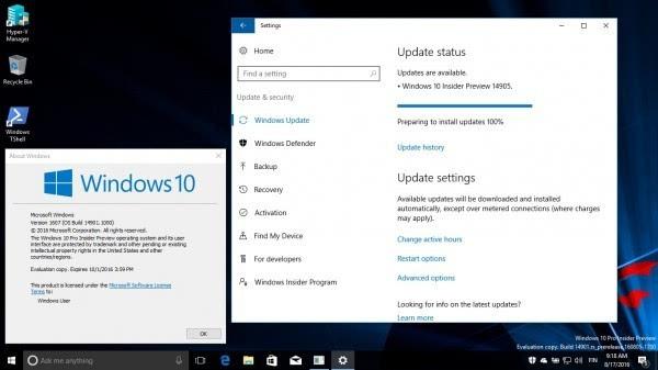 Windows 10 Build 14905发布:暂无法通过电源按钮关机的照片 - 2