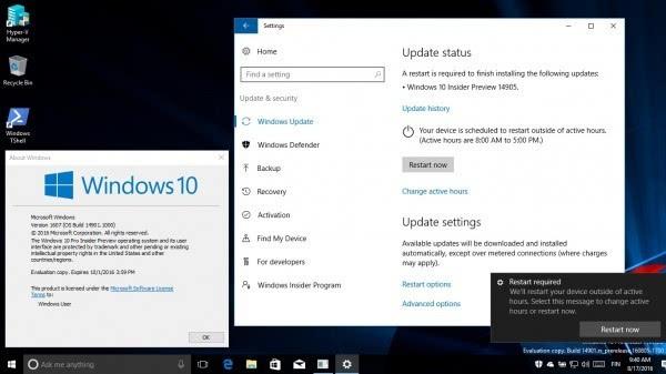 Windows 10 Build 14905发布:暂无法通过电源按钮关机的照片 - 3