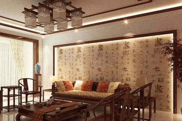卓越精致 中式风格沙发背景墙效果图图片