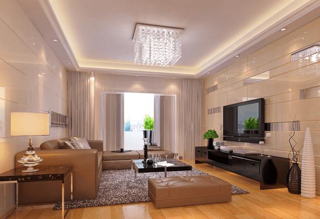 家庭大厅装修效果图之欧式简约风格