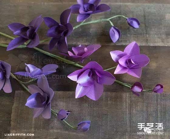 漂亮兰花的制作方法图解 手工兰花折纸步骤图图片