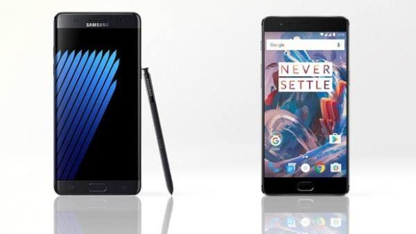三星Galaxy Note 7和一加手机3规格参数对比的照片 - 1