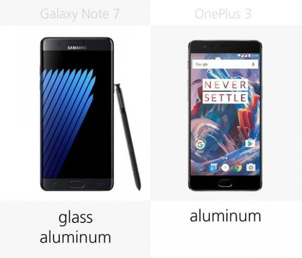 三星Galaxy Note 7和一加手机3规格参数对比的照片 - 4