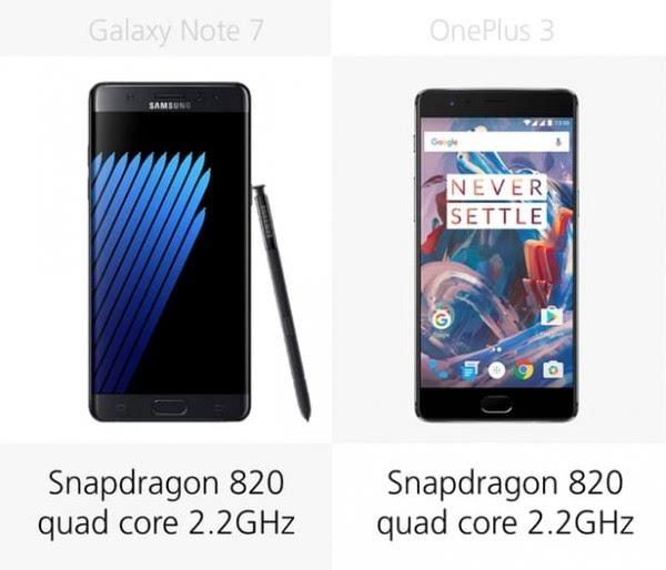 三星Galaxy Note 7和一加手机3规格参数对比的照片 - 22