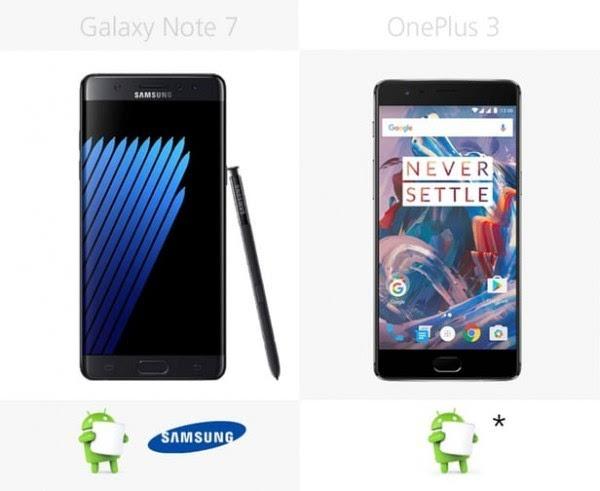 三星Galaxy Note 7和一加手机3规格参数对比的照片 - 31