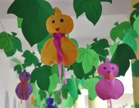 幼儿园有这样的手工吊饰,简直是美极了