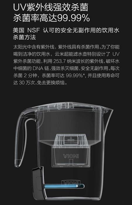 小米众筹新品滤水壶发布:249元/UV紫外杀菌的照片 - 5