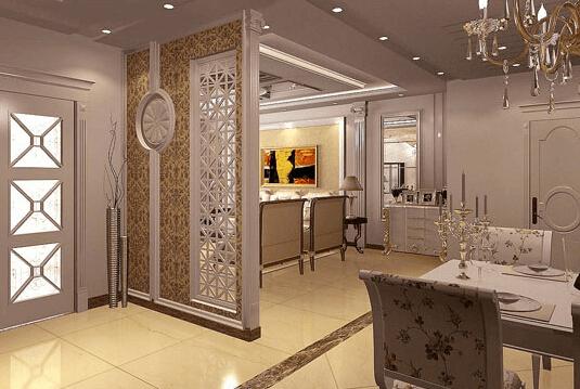 欧式餐厅背景墙效果图 领略豪华富贵的魅力