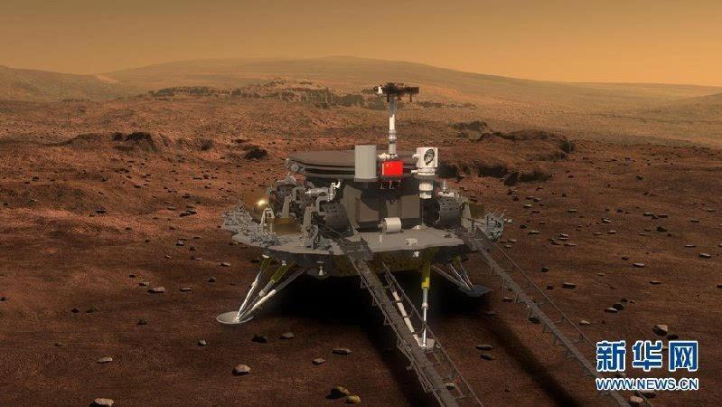 中国首个火星探测器和火星车外观设计构型公布的照片 - 1