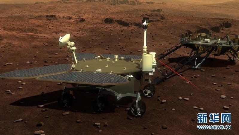 中国首个火星探测器和火星车外观设计构型公布的照片 - 4