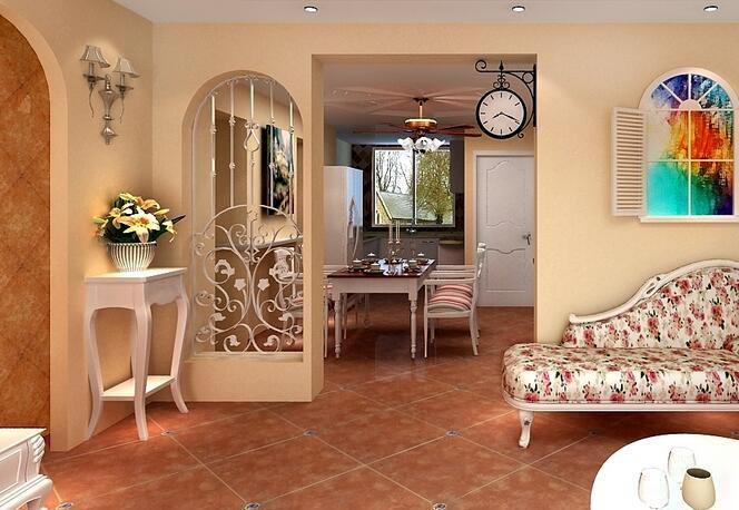 如果家里是简约欧式的,可以通过欧式的壁灯和水晶灯等元素的搭配来