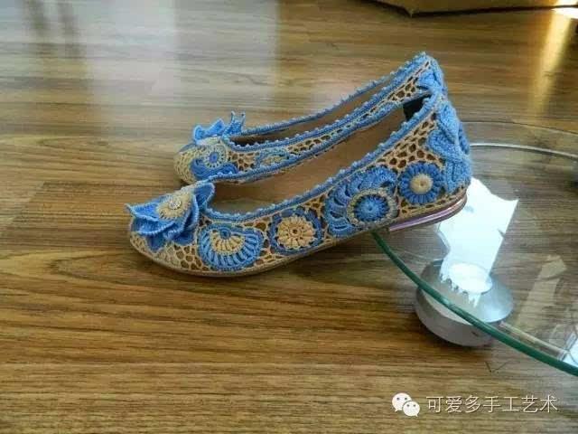 勾鞋子的花样步骤图解