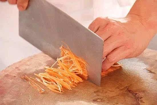 厨师切东西手绘