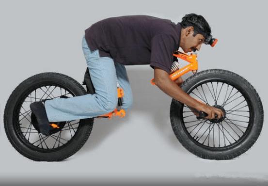 无把手概念电动自行车