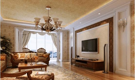 客厅电视背景墙效果图欧式风格一图片