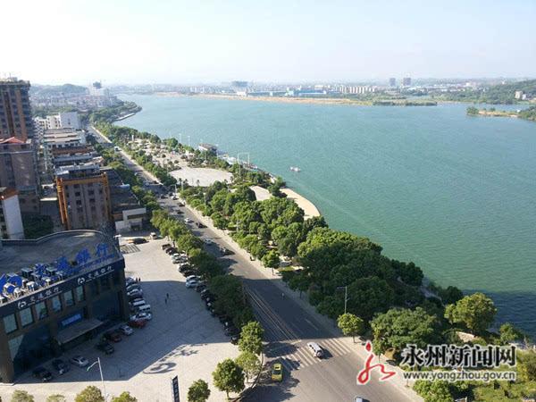 永州�9�c:,(�.�9.�_湘江河段永州滨江公园风景