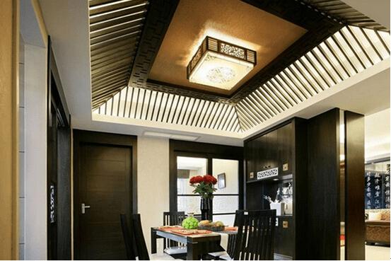 中式餐厅吊顶装修效果图一
