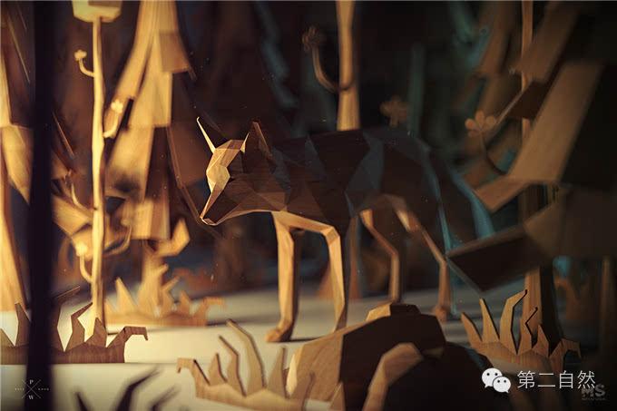 森林里生活着各种动物