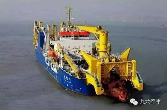 """""""天鲸""""号     新闻延伸:中国挖泥船南海造岛24小时不休   美国"""