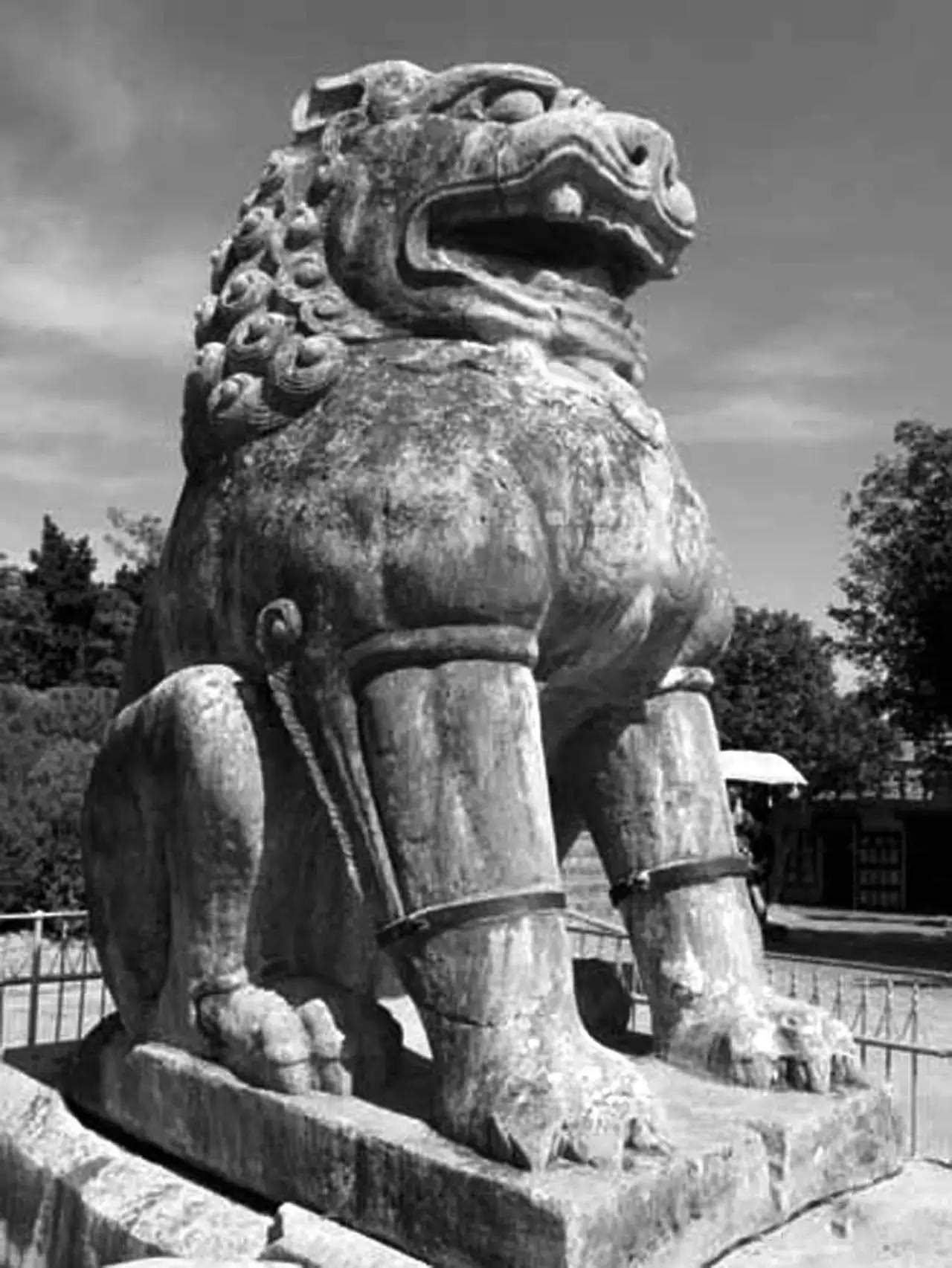 石狮雕塑平面cad