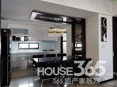 85平房子装修效果图:明亮舒适的开放式厨房 做饭也开心-85平房子装