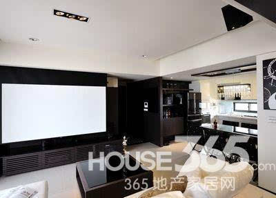 85平房子装修效果图:客厅电视背景墙 背投的哦-85平房子装修案例图