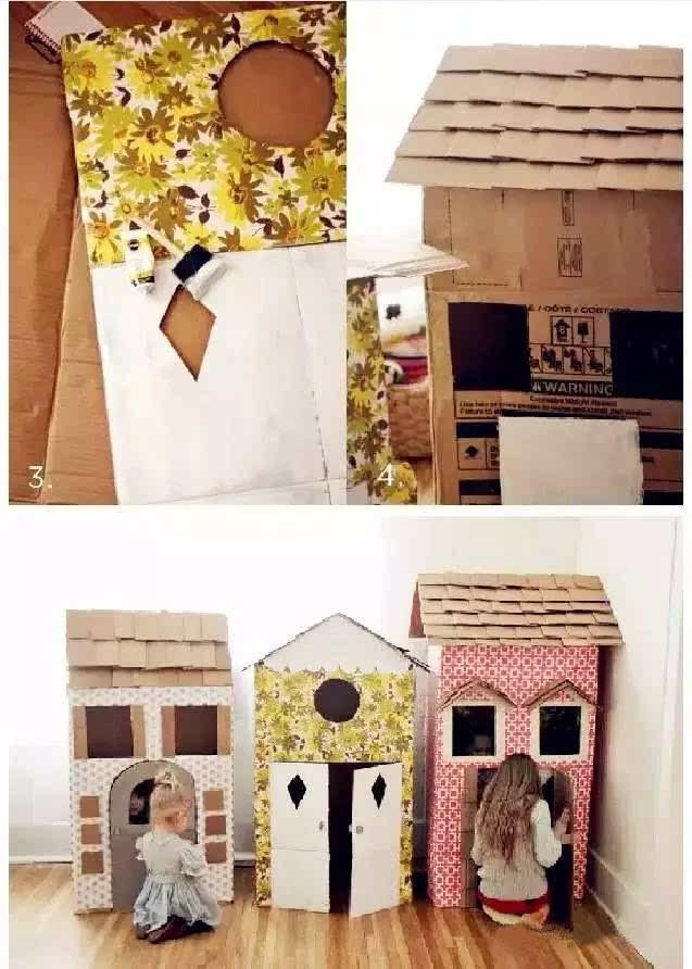 纸壳手工制作房子做法视频