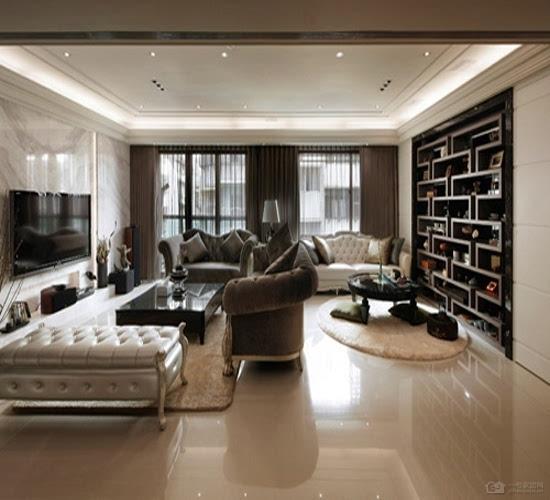 豪华欧式装修效果图 高冷奢华玄关客厅设计