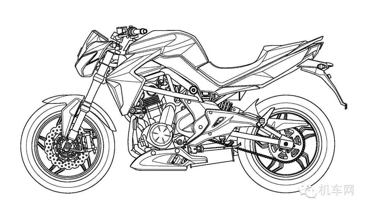 摩托设计手绘线稿