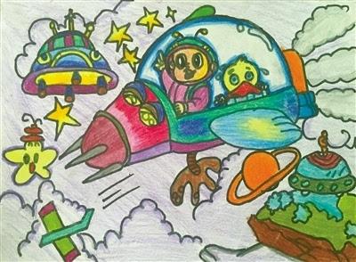 幼儿园绘画飞机作品