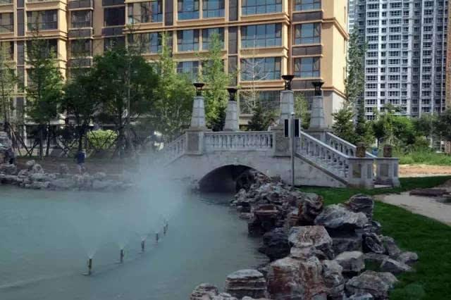 定州塔广场喷泉没了,这个大社区音乐喷泉湖景都有
