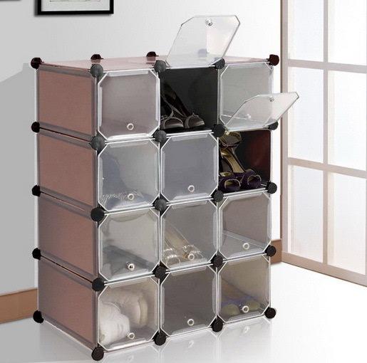 12格组合鞋柜创意简易鞋柜 客厅收纳储物柜 非常好,简单轻便美观实用