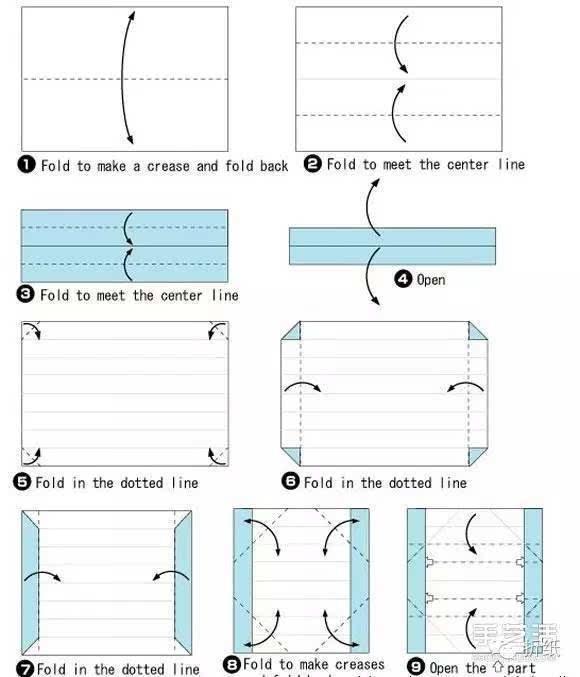 有盖长方形笔盒的折法 折纸项链包装盒图解
