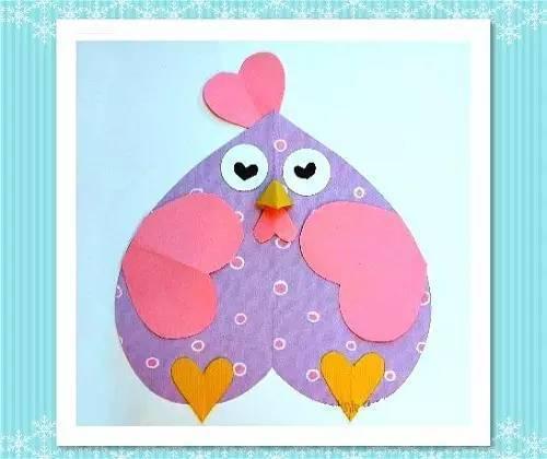 简单易学的爱心卡纸手工,孩子们都喜爱的亲子时光!