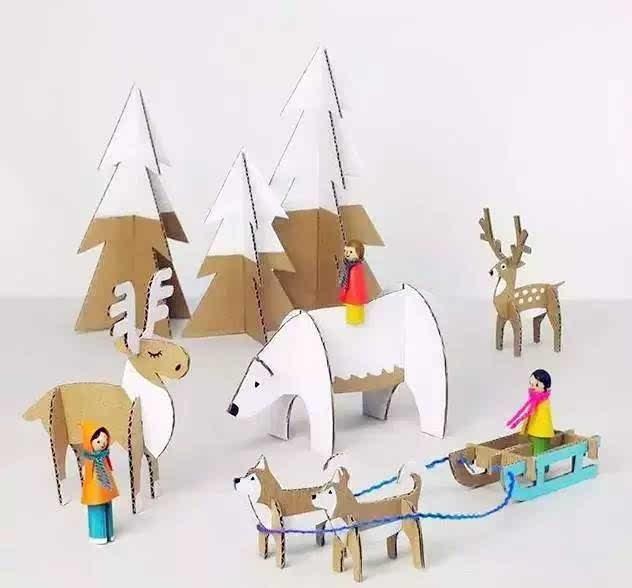 刚好可以拿来和孩子们一起动手diy,无论是配饰,房子车子,小动物等各种