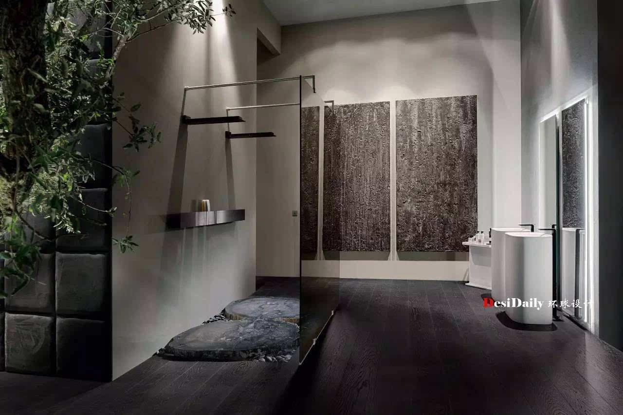 大理石台面与老木头的融合,打造一种极致的奢华,又体现丰富的自然材质