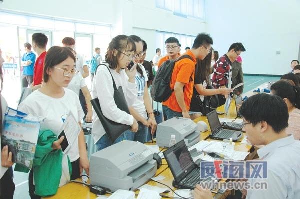 威海海洋职业学院2222名新生入学图片