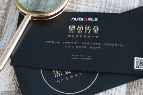 """迷之""""放大镜"""":努比亚9月1日黑金传奇发布会邀请函亮相的照片 - 3"""