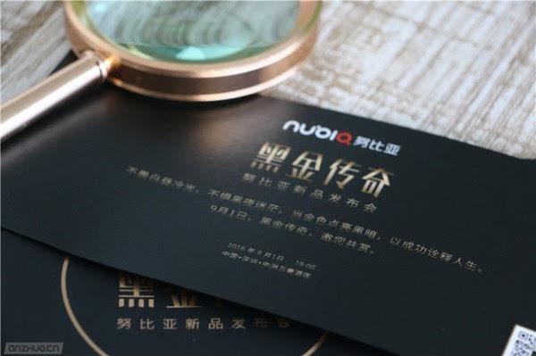 """迷之""""放大镜"""":努比亚9月1日黑金传奇发布会邀请函亮相的照片 - 5"""