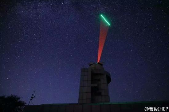 中国量子卫星对地通信照片公布:发射绿光的照片 - 3