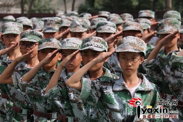 """军训见证乌鲁木齐幸福中学2016级集体""""蜕变"""""""