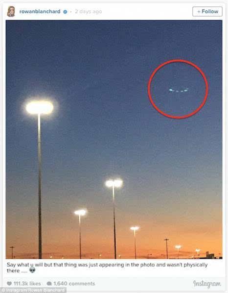 外星人造访纽约?美14岁童星拍到UFO的照片 - 1