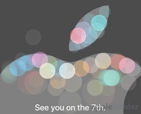 苹果9月7号iPhone 7新品发布会 邀请函图案引发大联想的照片 - 1