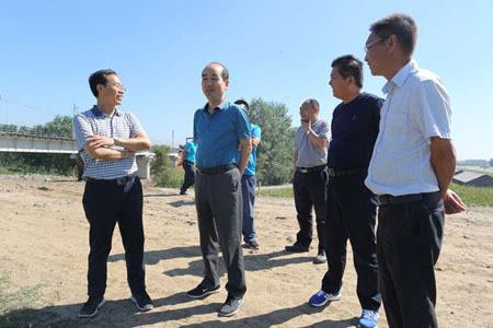 中国中铁股份公司组织部部长丁荣昌到中铁八局沈西