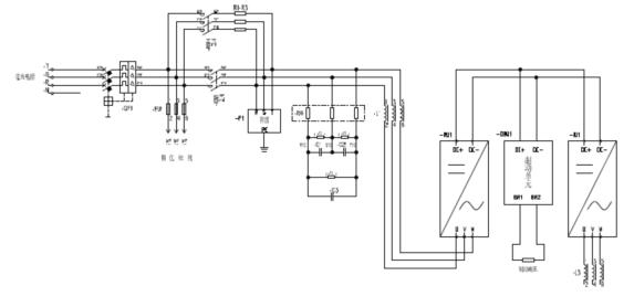 图(2) 四象限变频器主电路接线图   V. Goodrive800四象限变频器应用在电磁搅拌设备上的优点   变频电源Goodrive800四象限变频器是一款专为高端市场而研发的高性能变频器。其电流额定值是根据在高负载情况而设计的,因此它适用于高过载容量、高可靠性和连续运行的环境。   通过采用国际流行的模块化设计,Goodrive800四象限变频器可以提供整流单元、逆变单元和滤波器单元或一整套设备,以满足OEM和集成系统用户和客户的要求。其技术特点如下:   整流采用IGBT有功部分,PWM调制