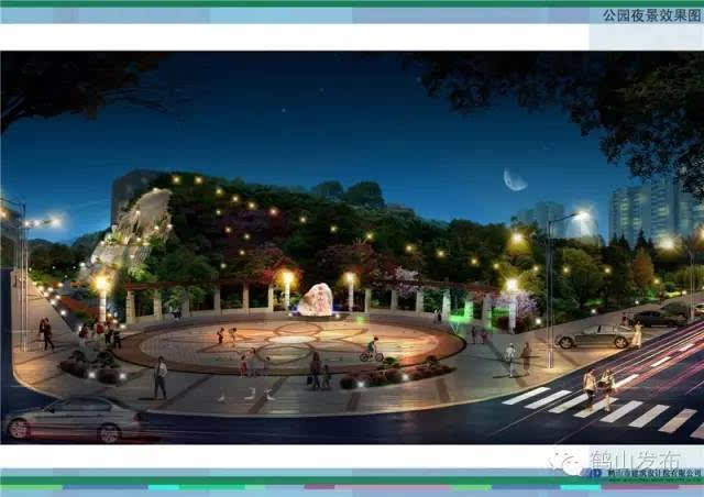 白银山公园占地面积13460平方米;公园里面包括边环山路,观景平台,圆形