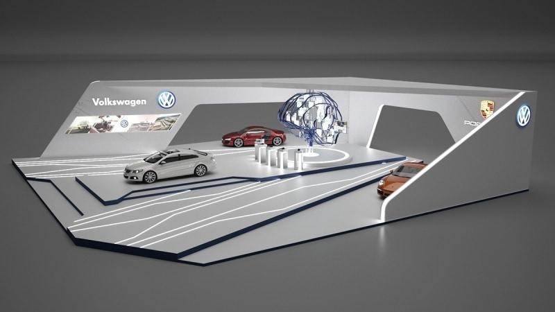 [展示设计]德国volkswagen汽车展台之设计套路(原创