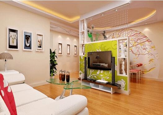 增强家居层次感 客厅隔断墙效果图